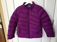 Patagonia Girls DOWN Jacket Coat XL 14 NWT New $149 Plum Purple