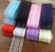10yds Bilateral Handicrafts Embroidered Net Lace Trim Ribbon Bow Crafts S5
