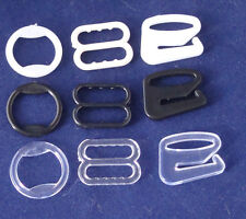 10mm Bra Strap Adjustment Slides or Rings x10 Black White or Transparent
