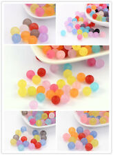 Handmade Mixed Transparent Round Frosted Acrylic Ball Beads diy Jewelry Beads