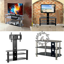 """Black Gloss TV Stand Cabinet Display For LCD LED Plasma 35 to 55"""" Inches 3 Tier"""