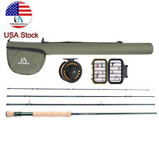 Maxcatch 5/8WT Fly Fishing Combo Kit 9FT Fly Rod, Reel, Line, Box, Flies Outfit