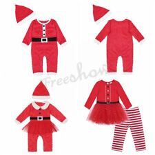 Baby Boy & Girl Christmas Santa Claus Outfit Long Sleeve Romper Costume Clothes