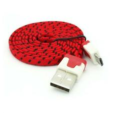 For AT&T PHONES - RED BRAIDED USB CABLE RAPID CHARGER SYNC POWER WIRE DATA
