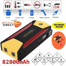 82800mAh Car Jump Starter Portable Charger Booster Power Bank Battery LED Torch