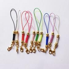 10pcs 10 Colors Mobile Cell Phone Cords Strap Lariat Lanyard w/ Lobster Clasps