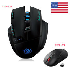 2400/4000DPI Optical Mouse Wireless Game Mice+USB Receiver For Laptop Computer