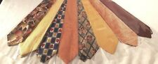 Thanksgiving - Fall colored Neck Ties, Brown, Gold , orange, pumpkin, leaves