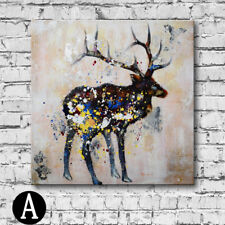 Poise of Deer Unframed Square Oil Painting Canvas Wall Art Painting Gift