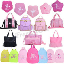 Kids Cute Girls BALLET Bag Dance Backpack Flowers Star Shoulder Bag Lovely Pink