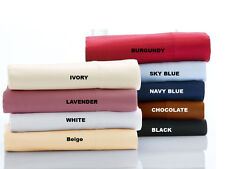 800TC Egyptian Cotton 4PC Bedding Sheet Set Full Size Only Solid Colors