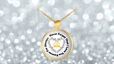 """Round Pendant Necklace - Gold Plated 22"""" - Show Her How Much You Love Her"""
