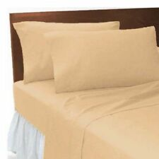 LATTE PLAIN DYED POLY COTTON SOFT FITTED  SHEET SINGLE/DOUBLE/KING/SUPER KING