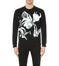 DEFECT MCQ ALEXANDER MCQUEEN Abstract heart-print cotton-jersey sweatshirt