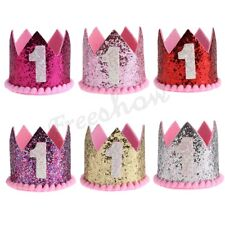 Baby 1st Birthday Sparkly Party Tiara Crown Princess  Headband Hair Accessories