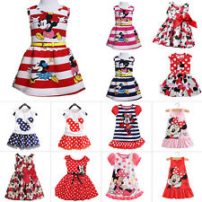 AU Toddler Baby Girl Minnie Mouse Vest Skirt Sundress Summer Party Dress Costume