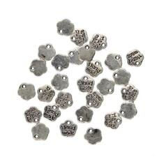 100pcs Tibetan Silver Gold Alloy Metal Flower Handmade Charms Pendants
