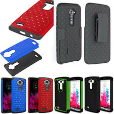 LG G3 D855 D850 Silicone Grip Heavy Dual Duty Hybrid Rubber Hard Case Cover