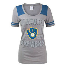 NEW MLB Milwaukee Brewers Gray T-Shirt - Sizes Womens S, M or L - FREE Shipping