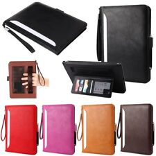 Soft Leather Credit Card Wallet Flip Folio Smart Stand Case Cover For Apple iPad