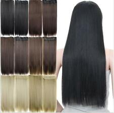 5 Clips in Hair Extensions Straight Synthetic High Temperature Hair 24 Inches