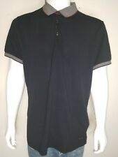 Hugo boss men's black short sleeve polo shirt t-shirt size 2xl