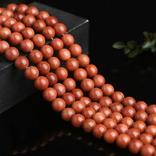 15''Natural Gold Sand Stone Round Loose Spacer Beads Jewelry Findings 4mm-20mm