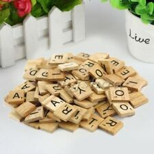 100 pcs Wooden Alphabet for Scrabble Tiles Black Letters&Numbers For Crafts ZH