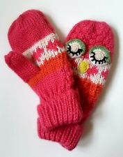 Children's Chunky Knit Owl Mittens - Choose Size! NEW!