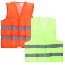 10Pcs Yellow Orange Hi Vis High Viz Visibility Vest Safety Vest Waistcoat