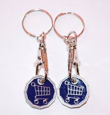 FUNKY TROLLEY ONE POUND COIN TOKEN KEYRING SHOPPING TROLLEY KEYRING FREE