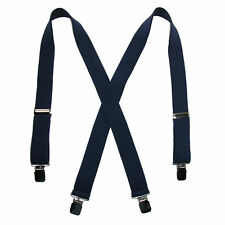 New CTM Men's Terry Casual Elastic Clip-End 1 1/2 Inch Suspenders