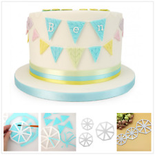 Varied Bunting Cutters Icing Fondant Sugarcraft Cutter Cake Decorating Mould UK