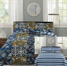 All American Collection New 3pc Printed Reversible Modern Floral Bedspread