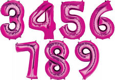 Giant Bright Pink Number Balloons 34in TALL ~Birthday Decorations Party Supplies