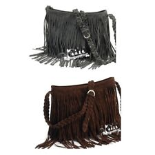 Celebrity Fringe Tassel Faux Leather Shoulder Messenger Cross Body Bag Handbags