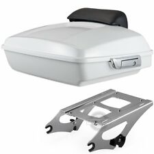 Crushed Ice Pearl Razor Tour Pack Pak Trunk For 14-18  Harley Davidson Touring