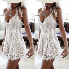 New Womens Summer Sleeveless Beach Boho Evening Cocktail Mini Dress Sundress