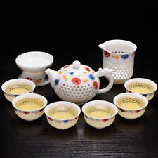 porcelain tea set Chinese kungfu tea set cellular design tea brewer tea pot cups