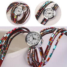 Beaded Wrist Watch 1 Pcs Quartz Women's Crystal Bracelet Bangle Wrist Watch