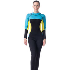 Womens 3mm Neoprene One-piece Full Length Wetsuit Surf Scuba Diving Jumpsuit