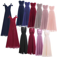 Formal Long Chiffon Dress Women Lady Bridesmaid Evening Prom Gown Party Cocktail