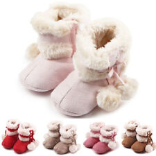 2016 New Baby Infant Boots Girl Boy Toddler Suede Snow Crib Xmas Gift Shoes
