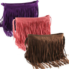 Women Handbag Fringe Tassel Faux Suede Shoulder Bag Messenger Cross Body