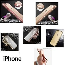 Luxury Diamond Bumper Ultra-thin Clear Hard Back Case Cover for New Apple iPhone