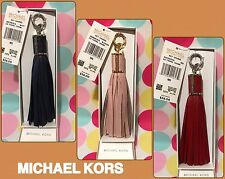 NEW MICHAEL KORS KEY CHARMS LARGE LEATHER TASSEL KEY FOB CHAIN $58