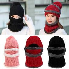 Novel Girls Ladies Women Winter Knitted Protection Ear Cap Rider Beanie Hat