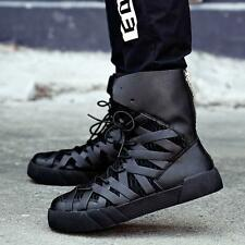Fashion Mens Ankle Boots Punk High Top Sneaker Athletic Leather Skateboard Shoes