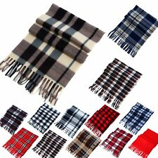 Women Men Winter Warm Scarf Cashmere Long Wrap Shawl Plaid Knit Scarf PashminaLN