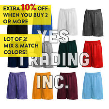 "Mens POLYESTER MESH 9"" GYM SHORTS S-XL 2XL 3XL 4XL 5XL Basketball Athletic"